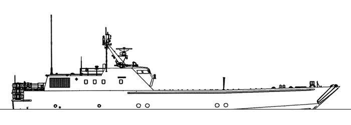 Схематичное изображение корабля
