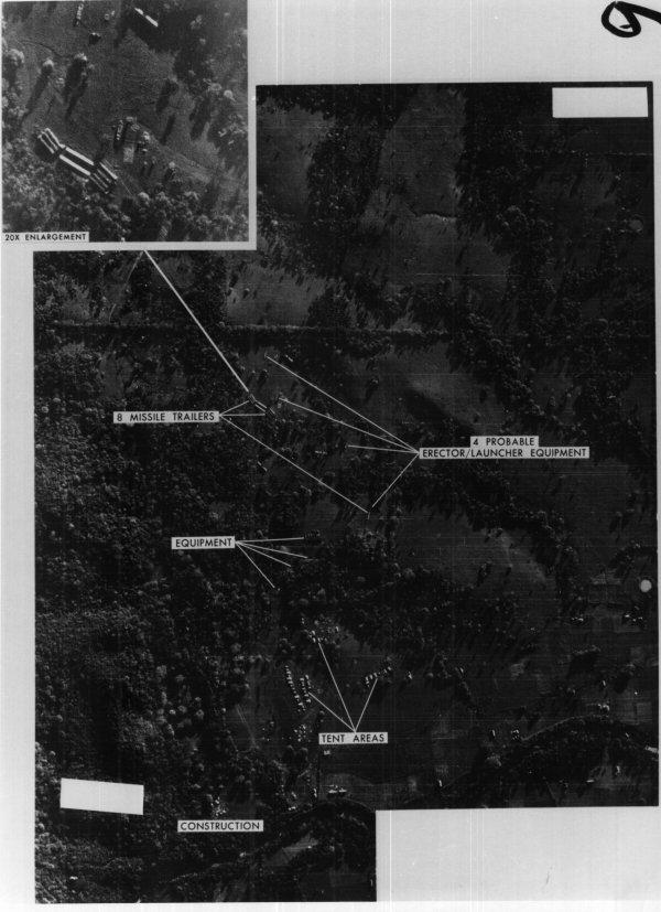 Снимок Кубы с советскими ракетами