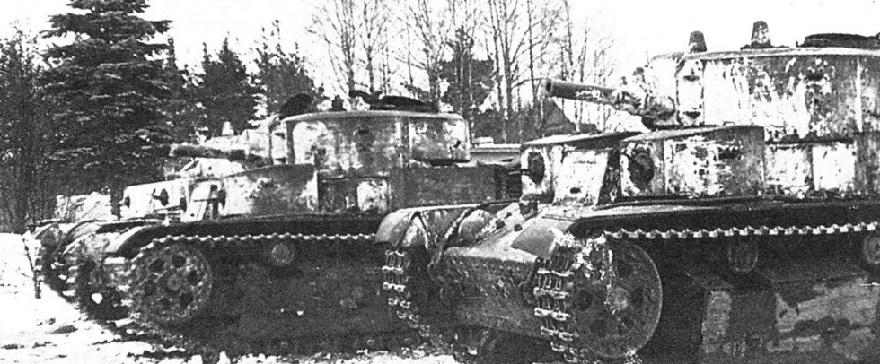 Советские танки на линии Маннергейма