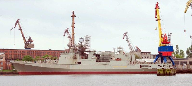 Спуск на воду фрегата проекта 22350