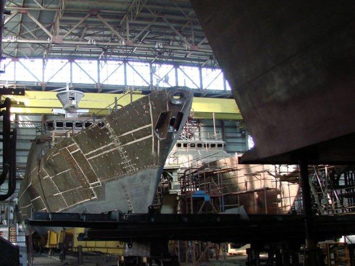 Строительство корабля проекта 21630