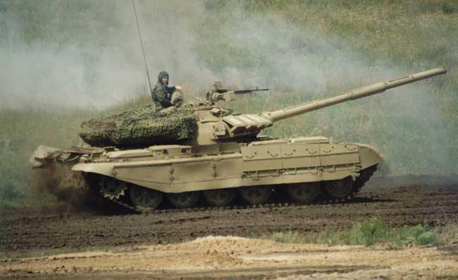 Т-55 на полигоне