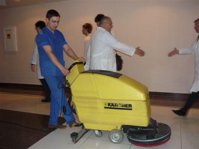 Уборка помещений в больнице