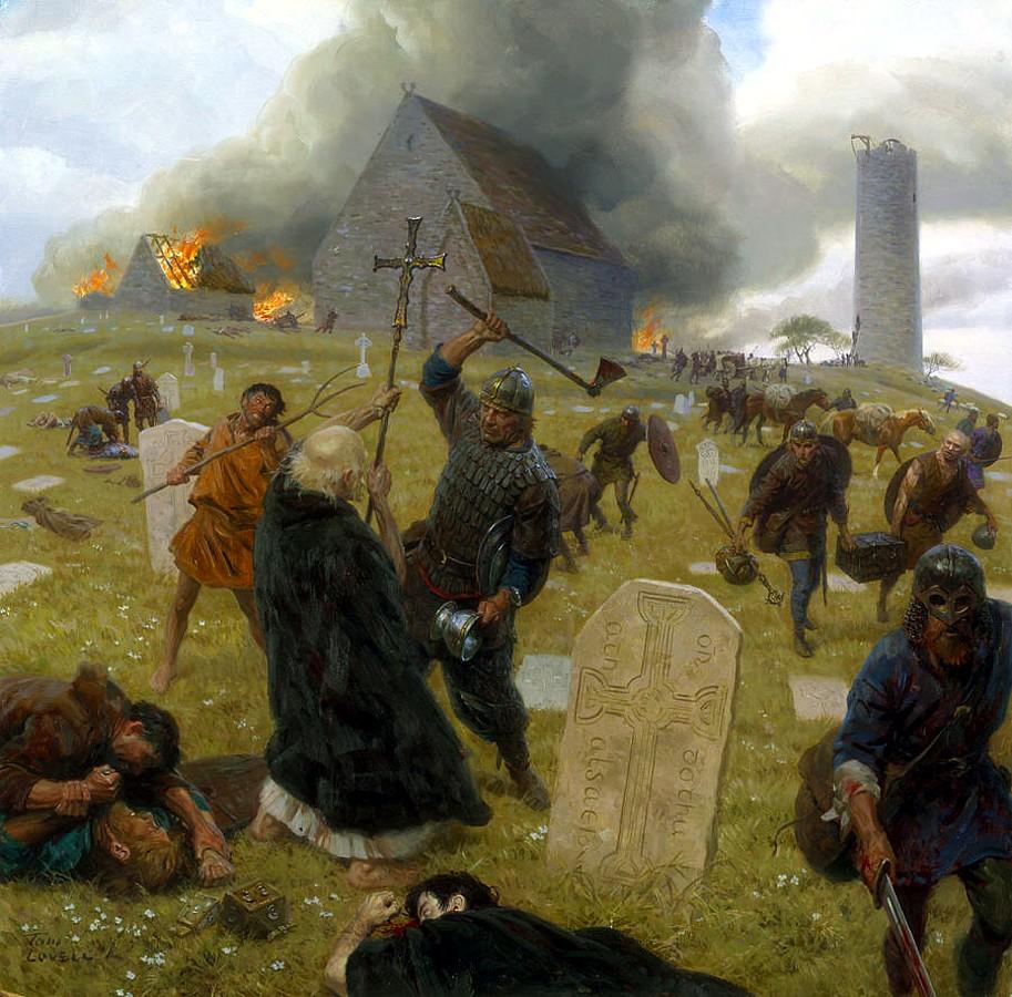 Викинги в английской деревне
