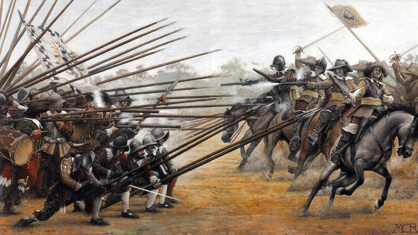 Всадники против пикинеров