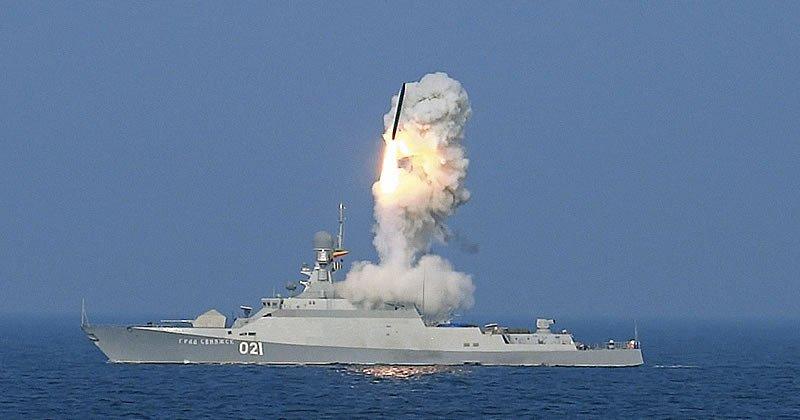Запуск ракеты с катера