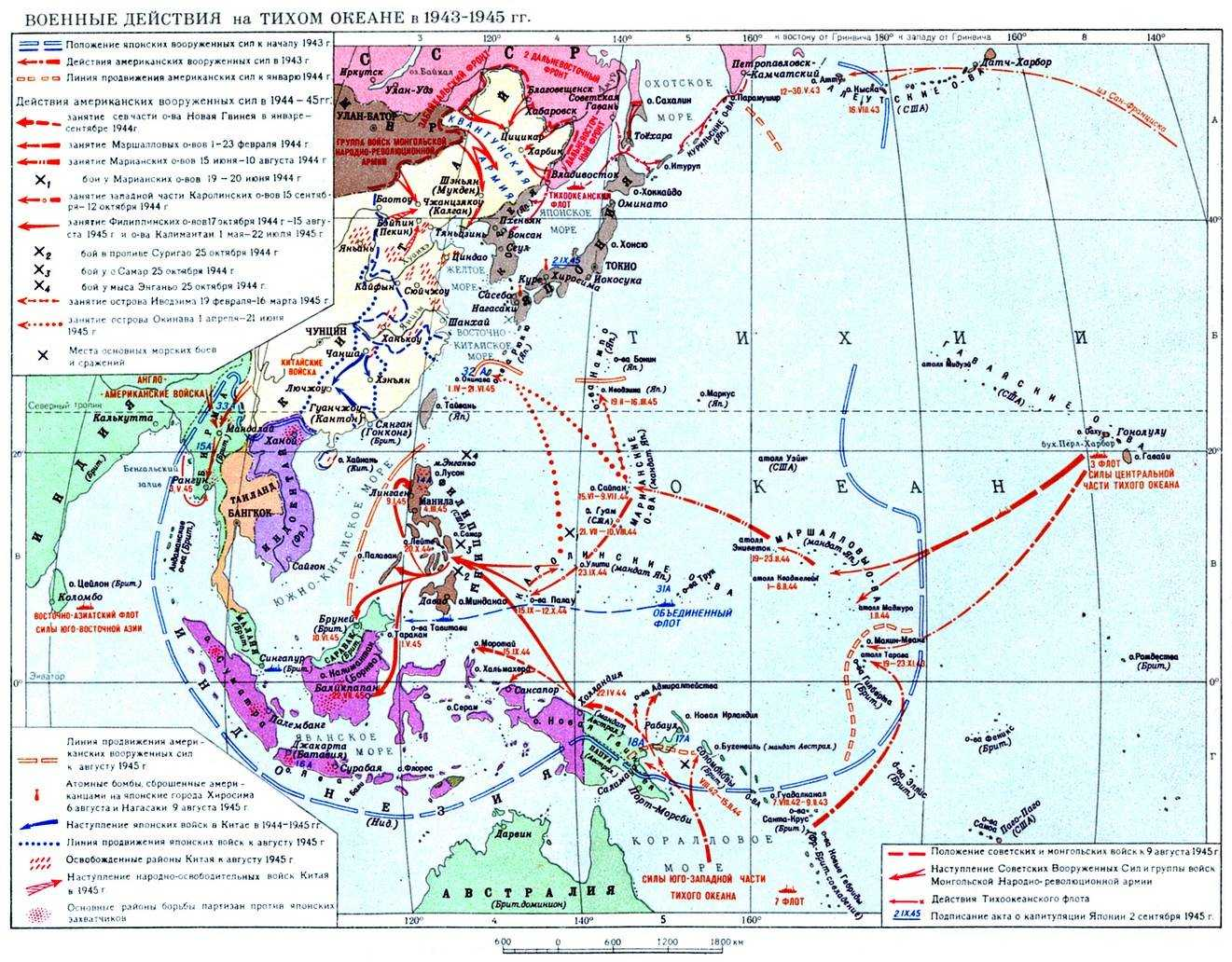 Тихий океан 1943-1945