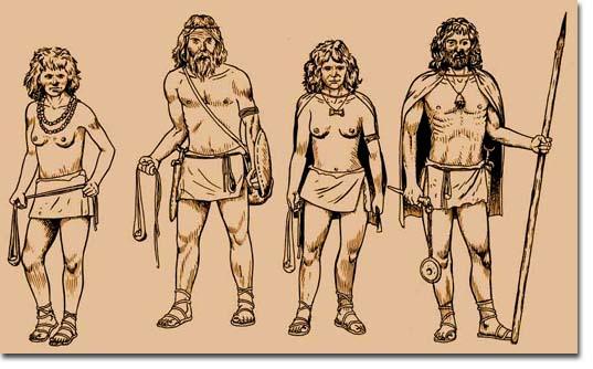 Древнее изображение воинов с пращами