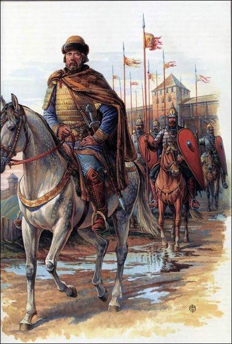Древнерусские воины в броне