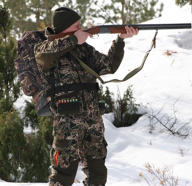 Охотник в костюме