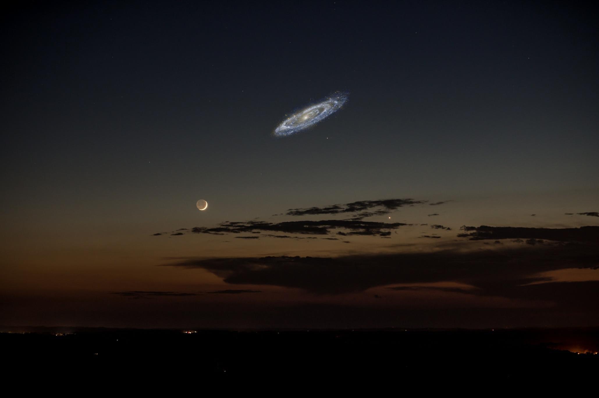 Если бы Андромеда была видна невооруженным глазом