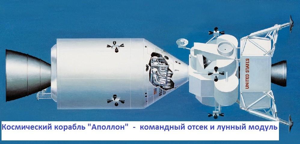 """Космический корабль """"Аполлон"""", рисунок"""