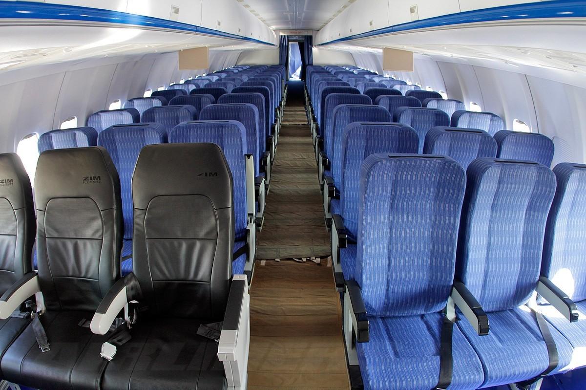 Пассажирский салон Ту-204