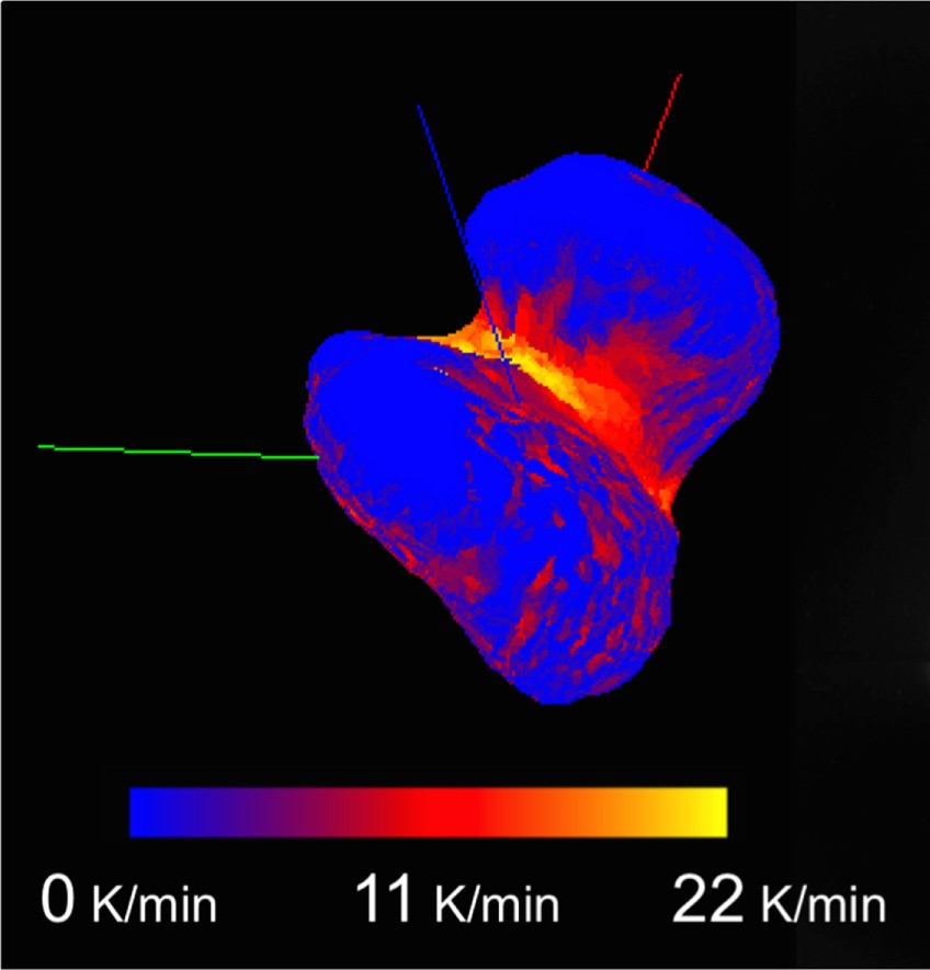 Инфракрасный снимок кометы