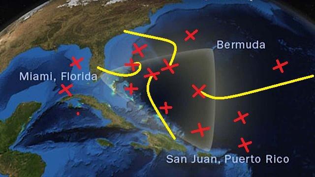 Предполагаемые места гибели самолетов и кораблей