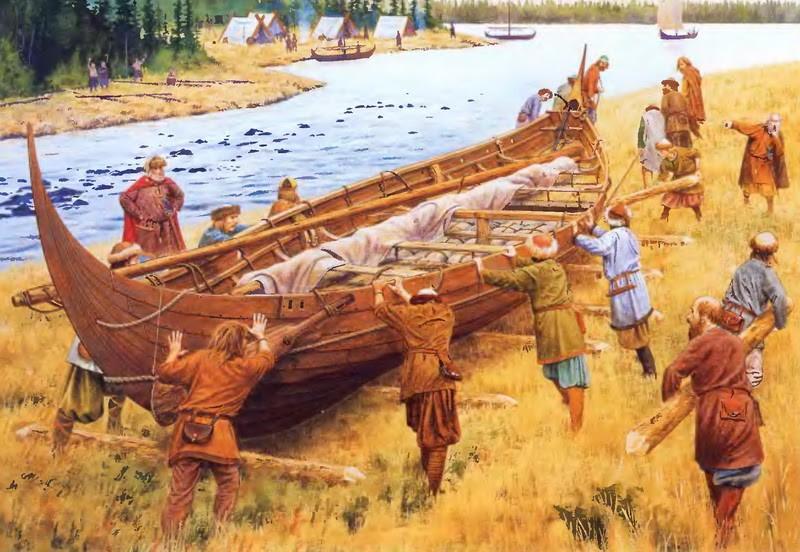 Перетаскивание варяжского корабля