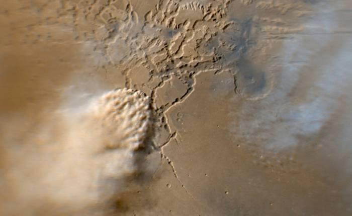 Пылевые бури на Марсе