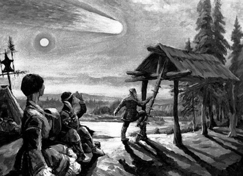 Рисунок падения метеорита