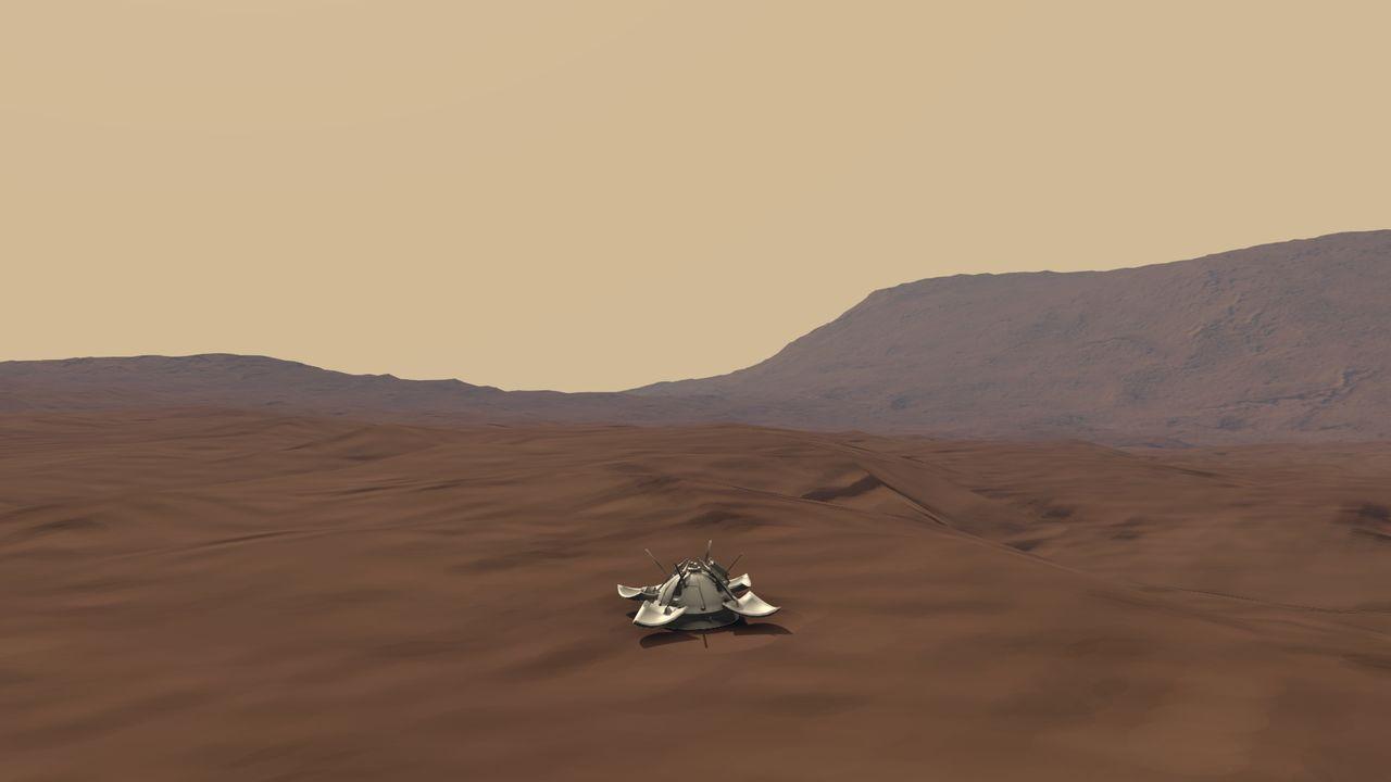 """Станция """"Марс"""" на Марсе"""
