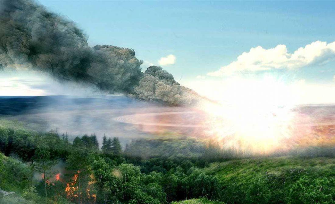 Траектория падения метеорита