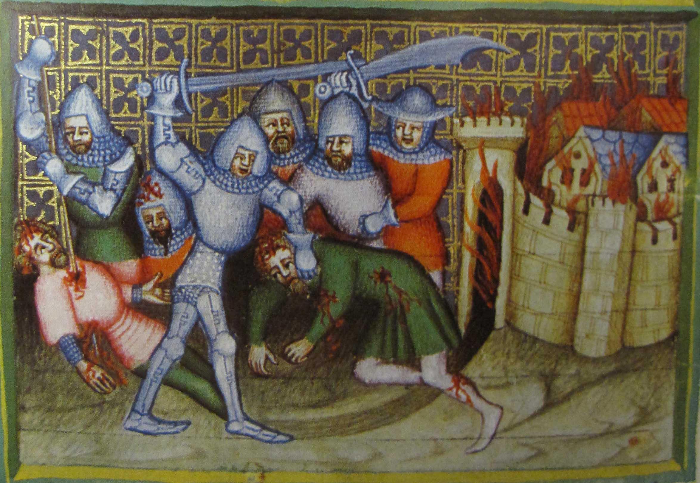 Воины с фальшионами