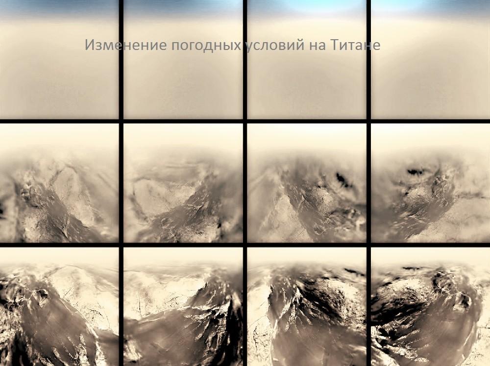 Изменение погодных условий на Титане