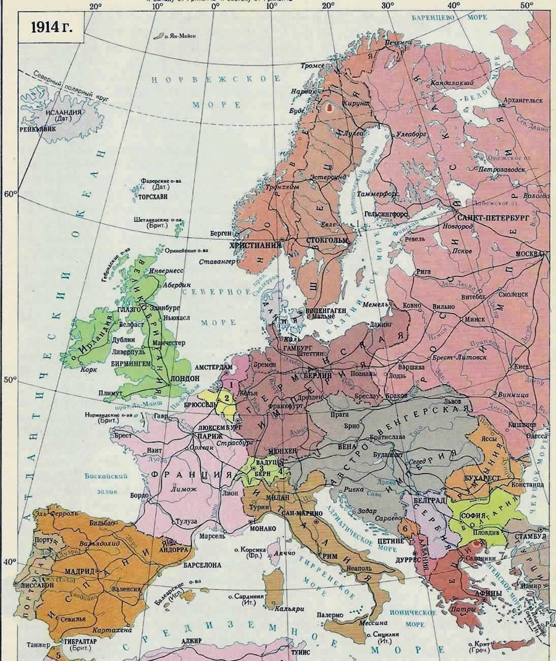 Карта 1914