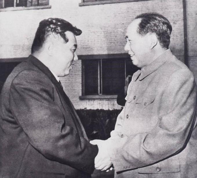 Ким Ир Сен и Мао Дзедун