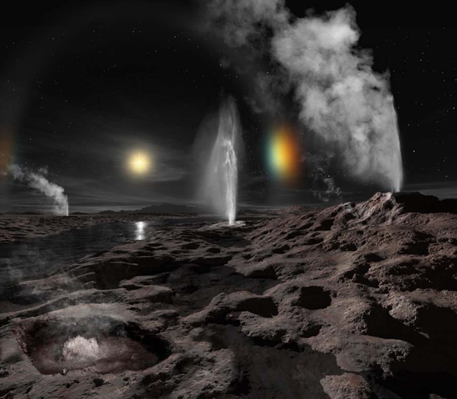 Рельеф Плутона