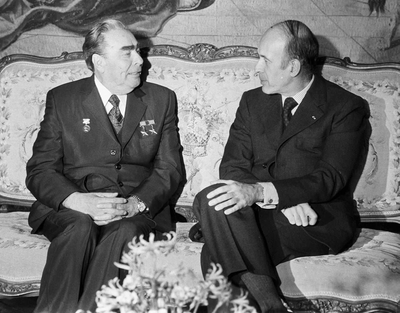 Жискар д'Эстен и Брежнев