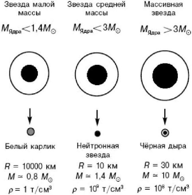 Эволюция звезд- образование черной дыры