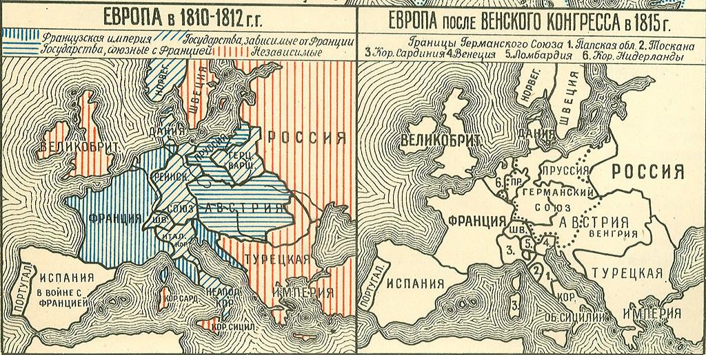Европа (Польша) до и после Венского конгресса