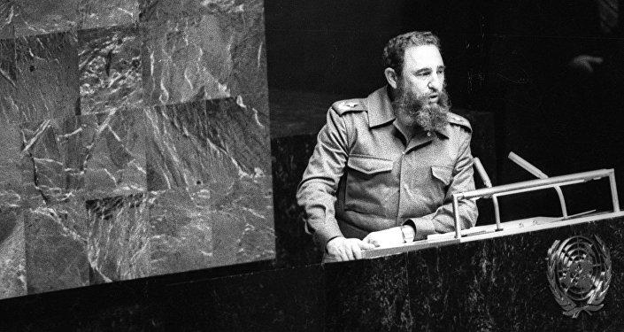 Фидель Кастро в ООН