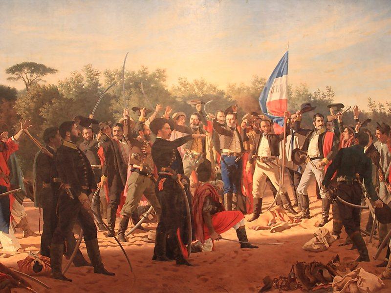 Генерал Росас возглавляет поход на Буэнос-Айрес
