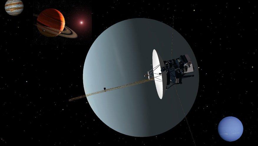 Космический зонд и газовые гиганты