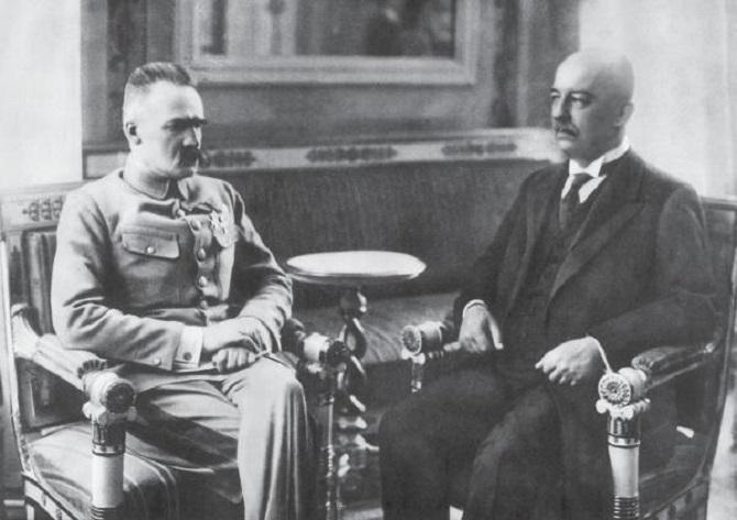 Пилсудский и Габриэль Нарутович