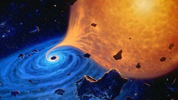 Поглощение объектов черной дырой