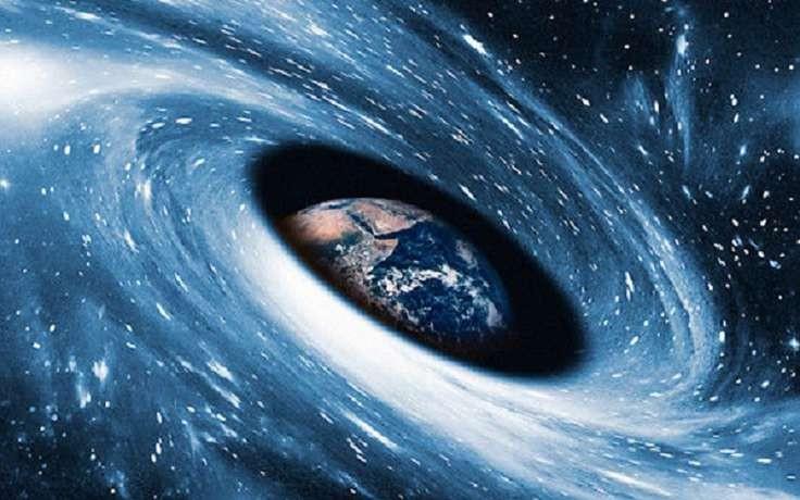 Земля и черная дыра
