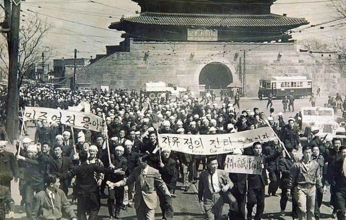 Беспорядки в Сеуле при Ли Сын Мане