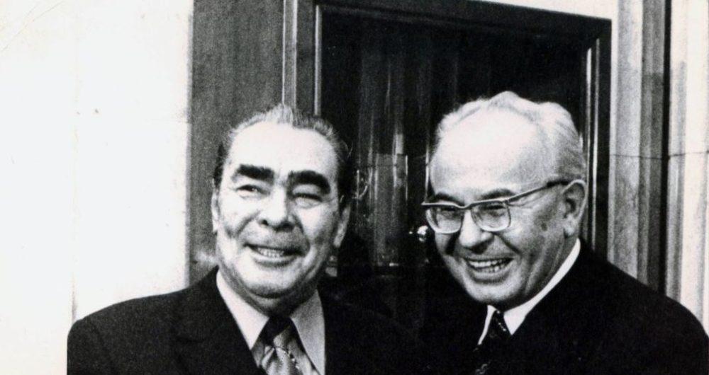 Брежнев и Густав Гусак