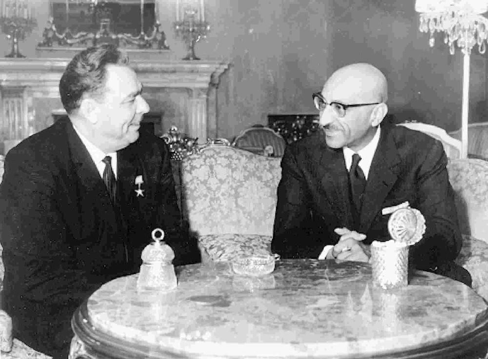 Брежнев и Захир-Шах