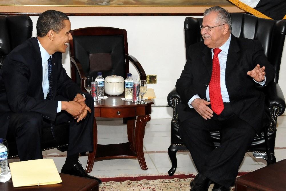 Джаляль Талабани и Барак Обама