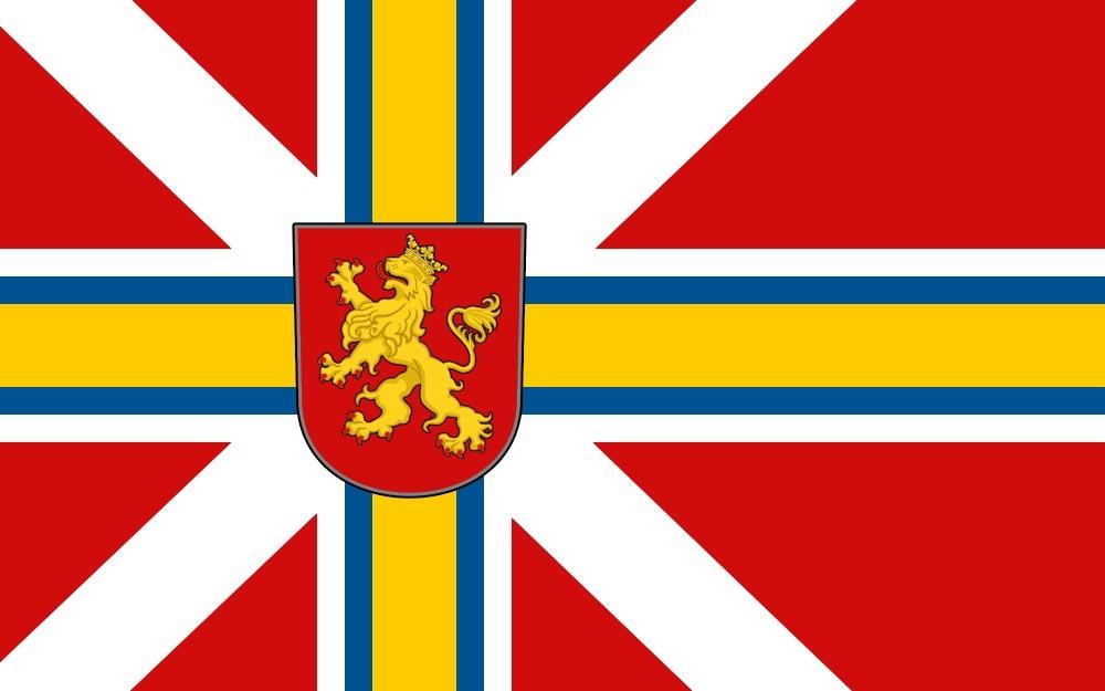 Флаг Объединенных королевств Швеции и Норвегии