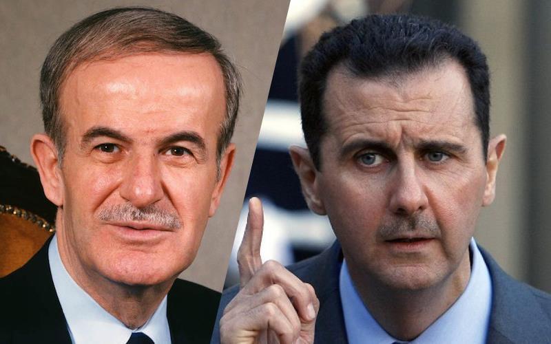 Хафез Асад и Башар Асад