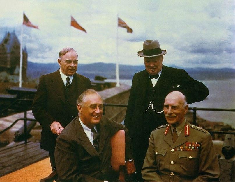 Макензи Кинг, Черчилль и Рузвельт