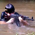 Стрельба из АК-47 в воде