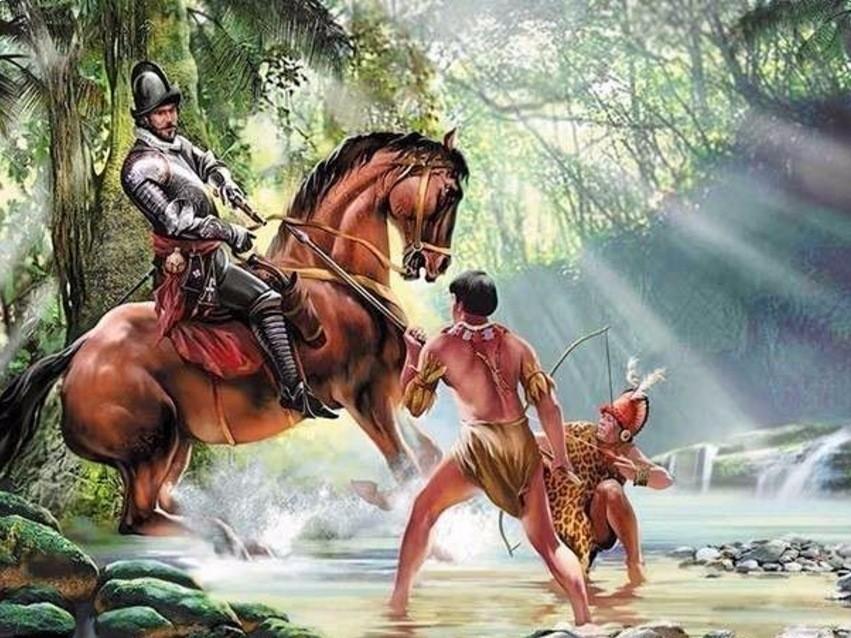 Конкистадоры и местные жители
