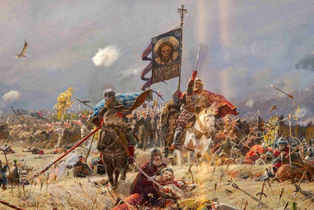 Русские воины в бою