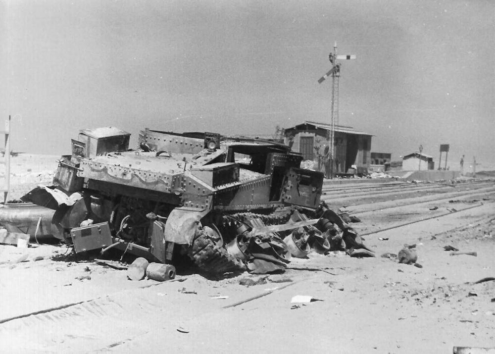 Уничтоженный танк