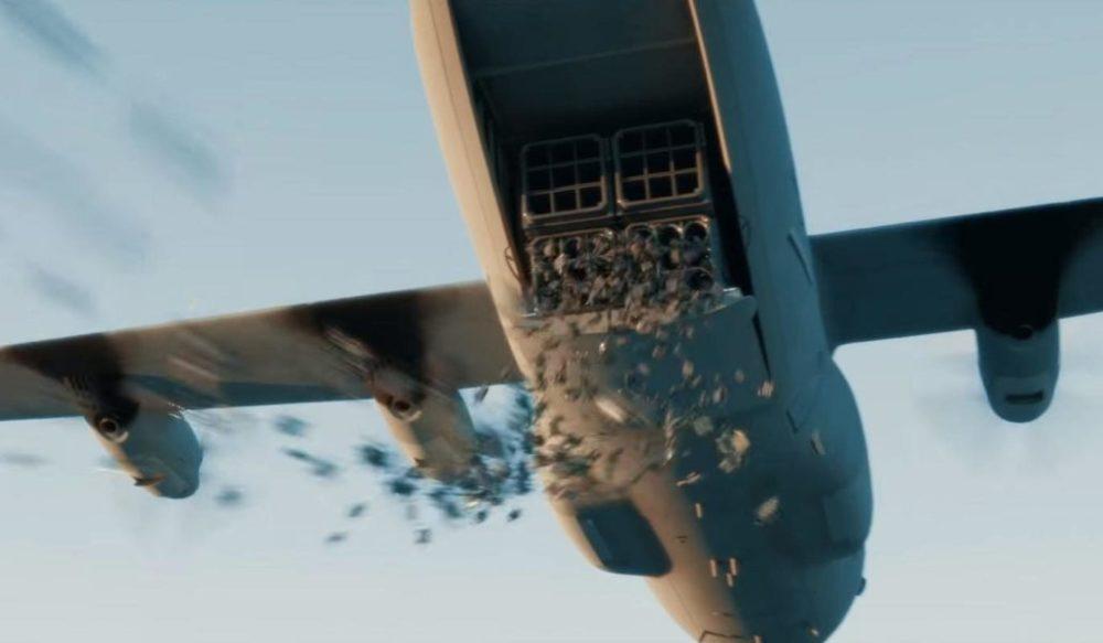 Сброс дронов